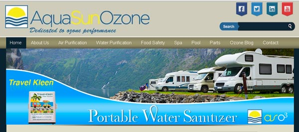 Aqua Sun Ozone new website redesign