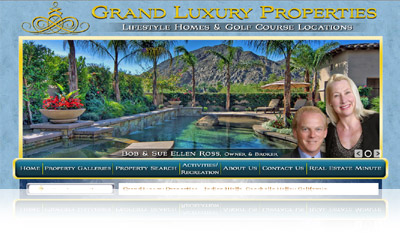 Grand Luxury Properties Website Display