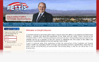 Greg Pettis Website Display