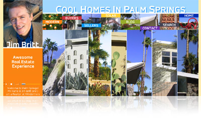 Cool Homes in Palm Springs Website Display