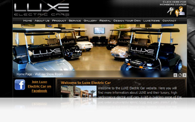Luxe Electric Car Website Display