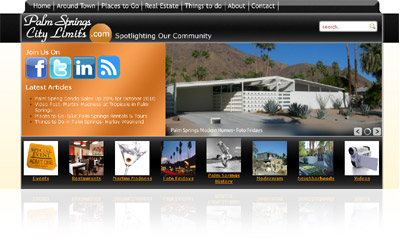Palm Springs City Limits Website Display