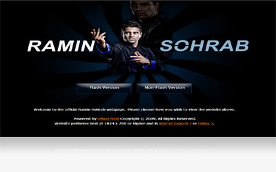 Ramin Sohrab Website Display