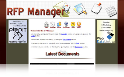 RFP Manager Websystem Display