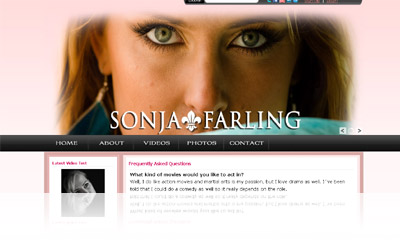 Sonja Farling Website Display