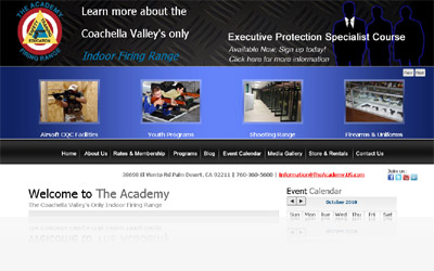 The Academy Firing Range Website Display